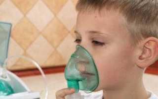 Ингаляции при лающем кашле у детей: инструкция по применению